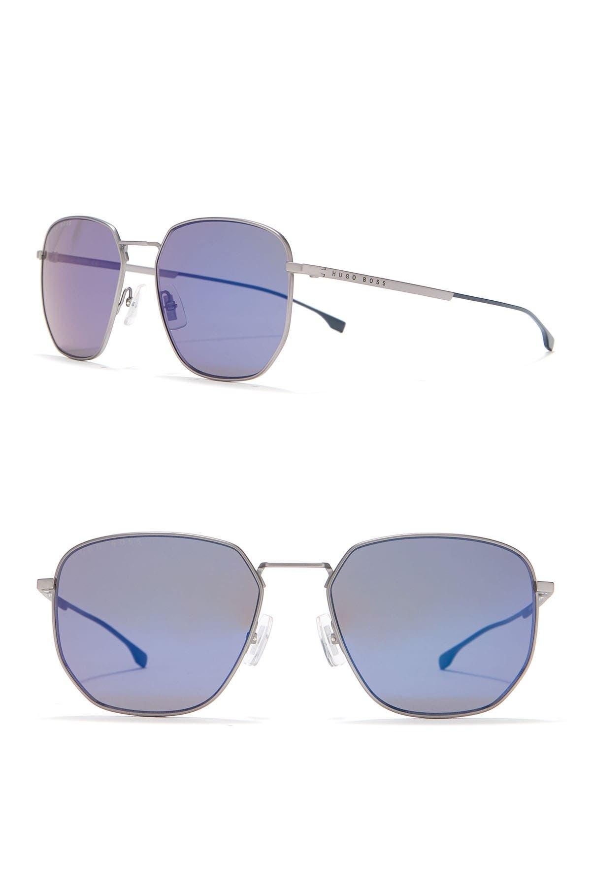 Image of BOSS 58mm Aviator Sunglasses