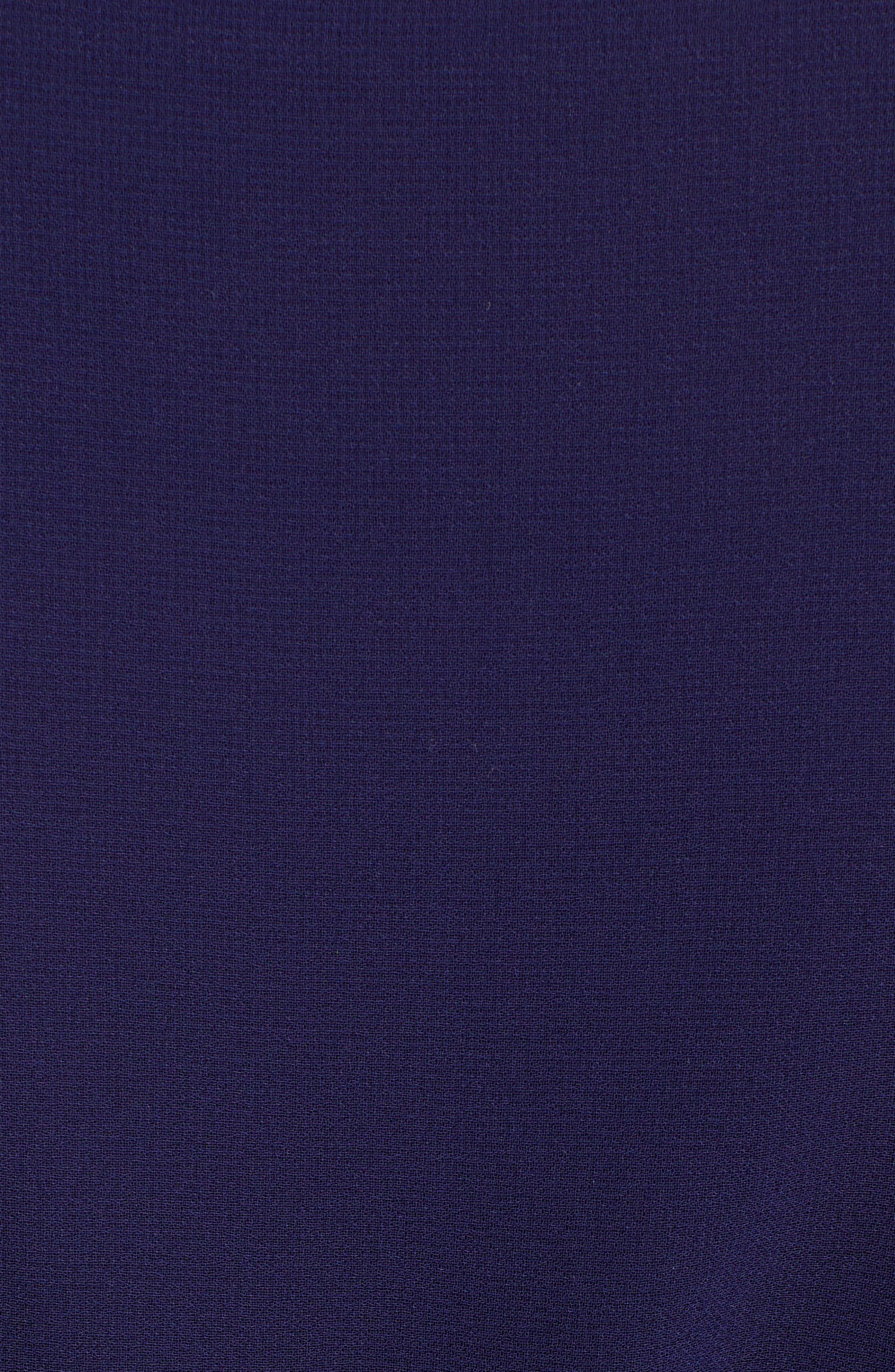 ,                             Chiffon Drawstring Midi Dress,                             Alternate thumbnail 6, color,                             DISTANT MOUNTAIN