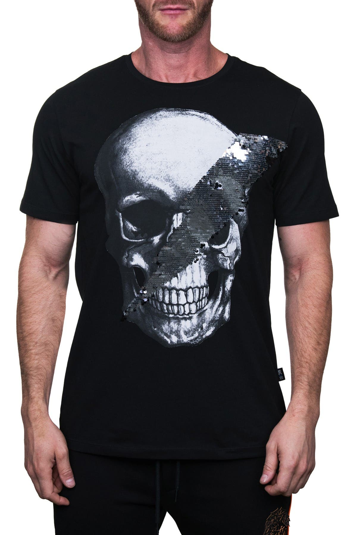 Image of Maceoo Skull Disco Graphic Crew T-Shirt