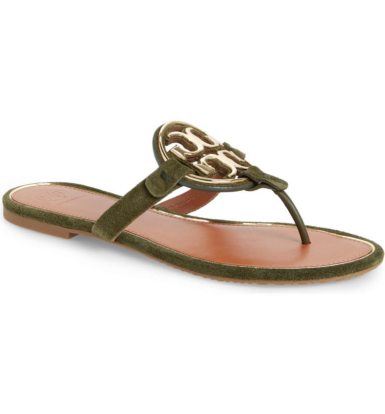 TORY BURCH Metal Miller Flip Flop, Main, color, LECCIO / GOLD