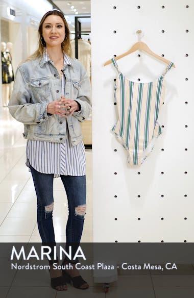 Stripe Clip Tank One-Piece Swimsuit, sales video thumbnail
