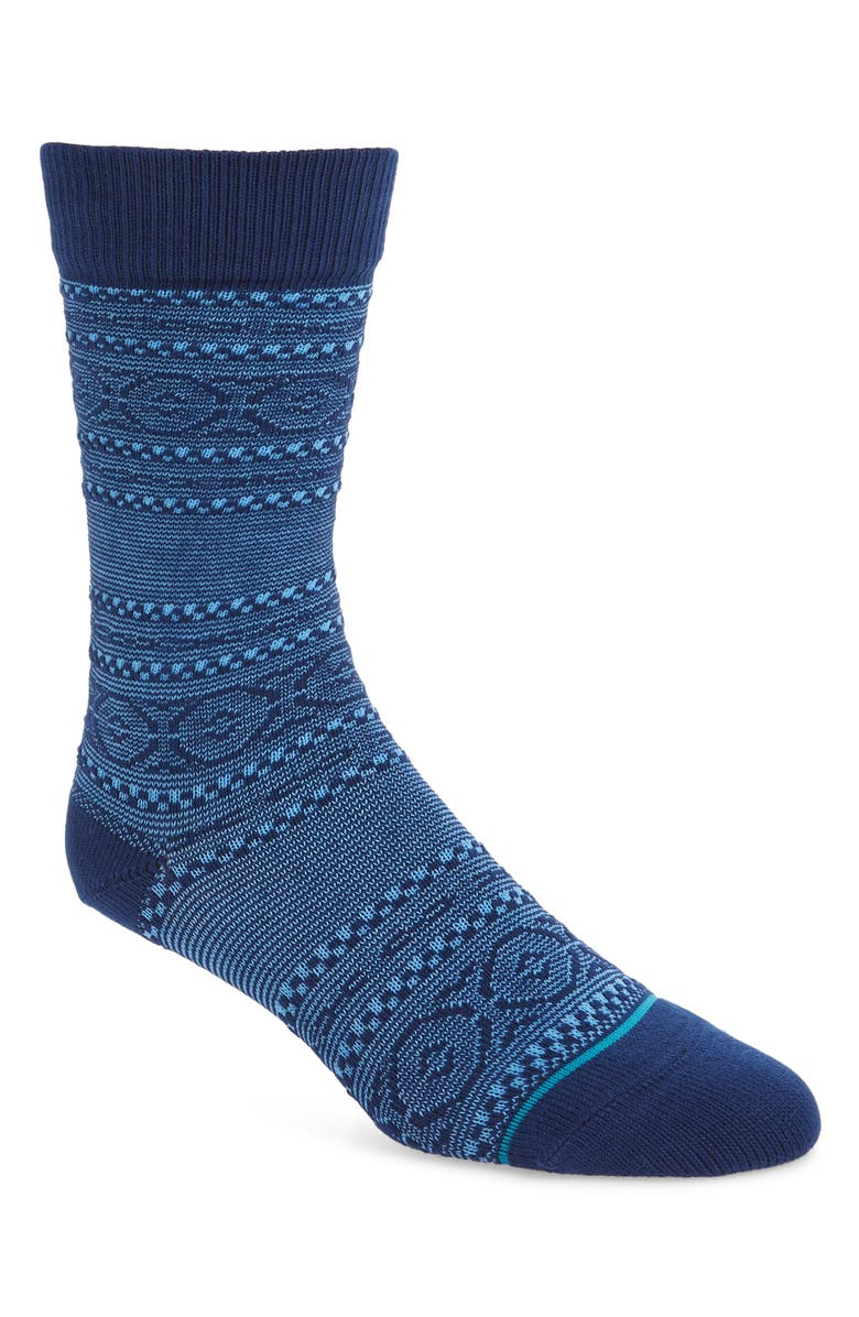 STANCE Poncho Socks, Main, color, NAVY