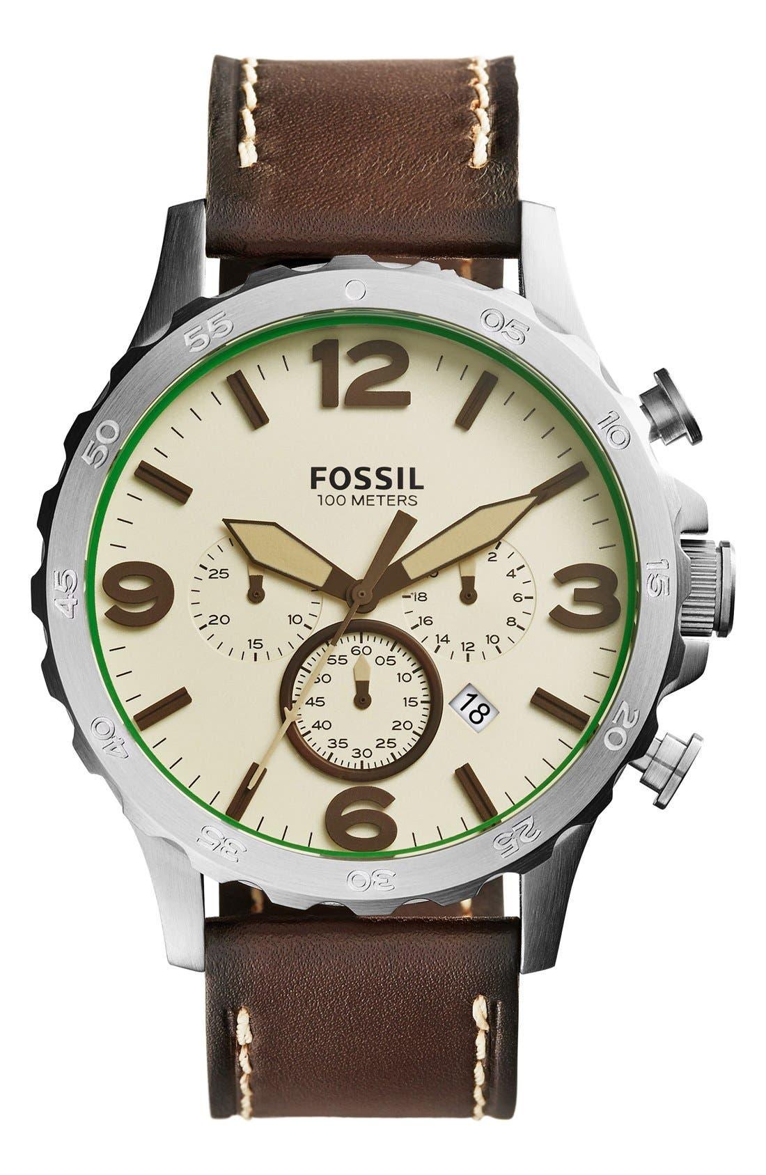 ,                             'Nate IP' Chronograph Watch, 50mm,                             Main thumbnail 25, color,                             203