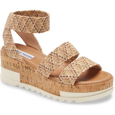 Steve Madden Bandi Platform Wedge Sandal- Orange