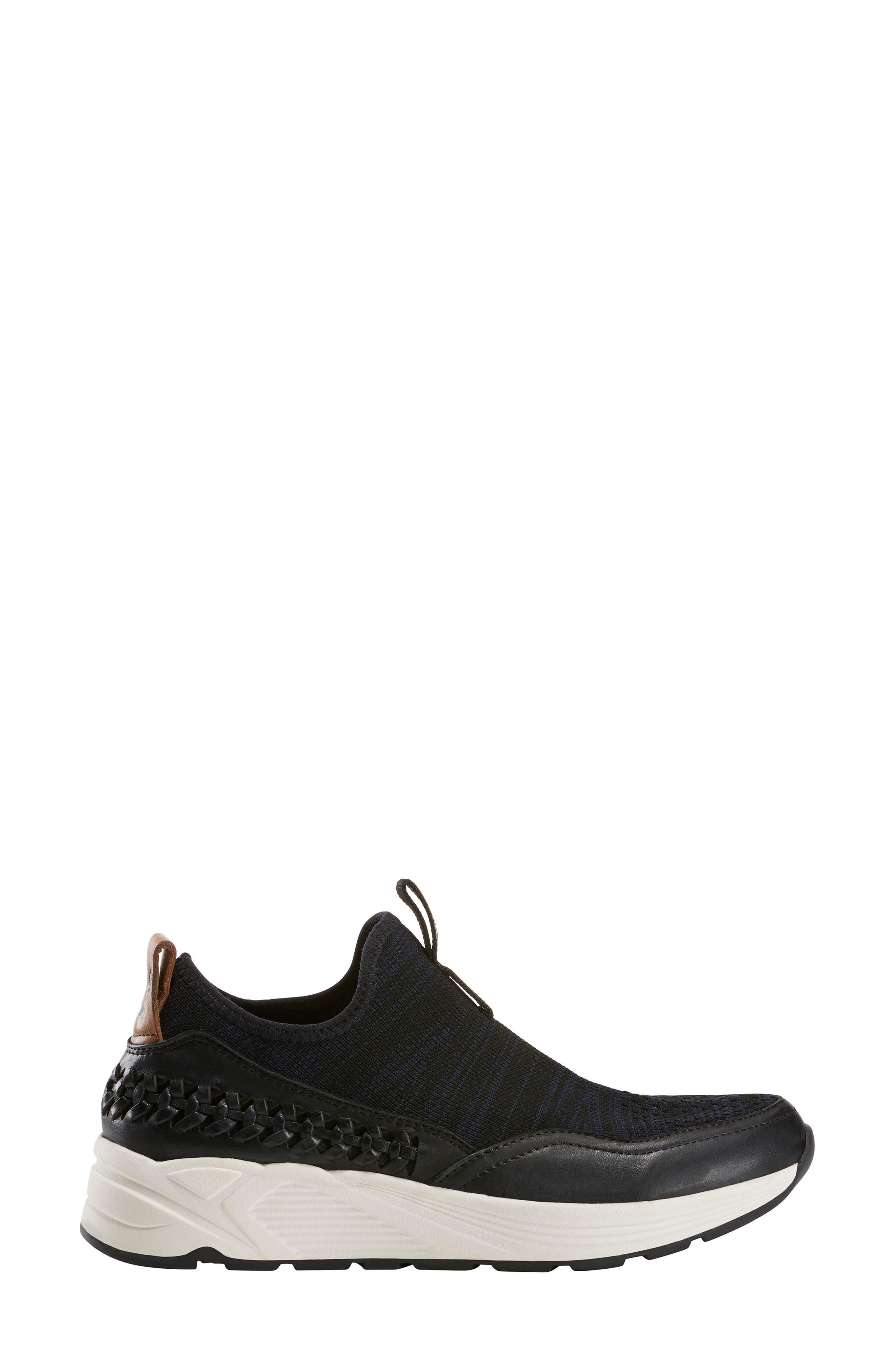,                             Ramble Sneaker,                             Alternate thumbnail 3, color,                             BLACK LEATHER