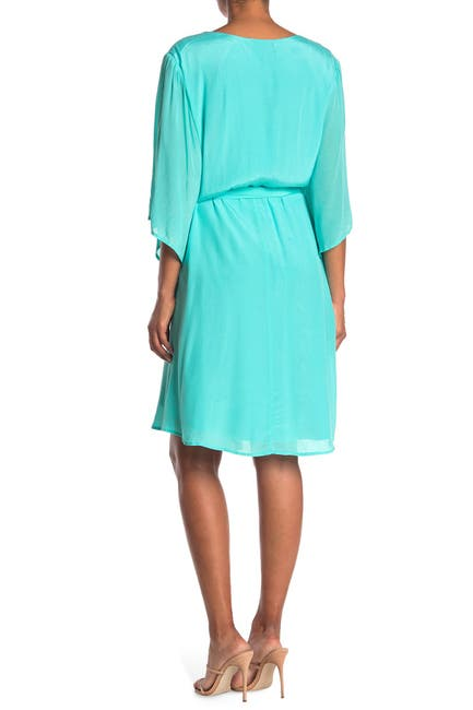 Image of Maree Pour Toi Belted Bell Sleeve Wrap Dress