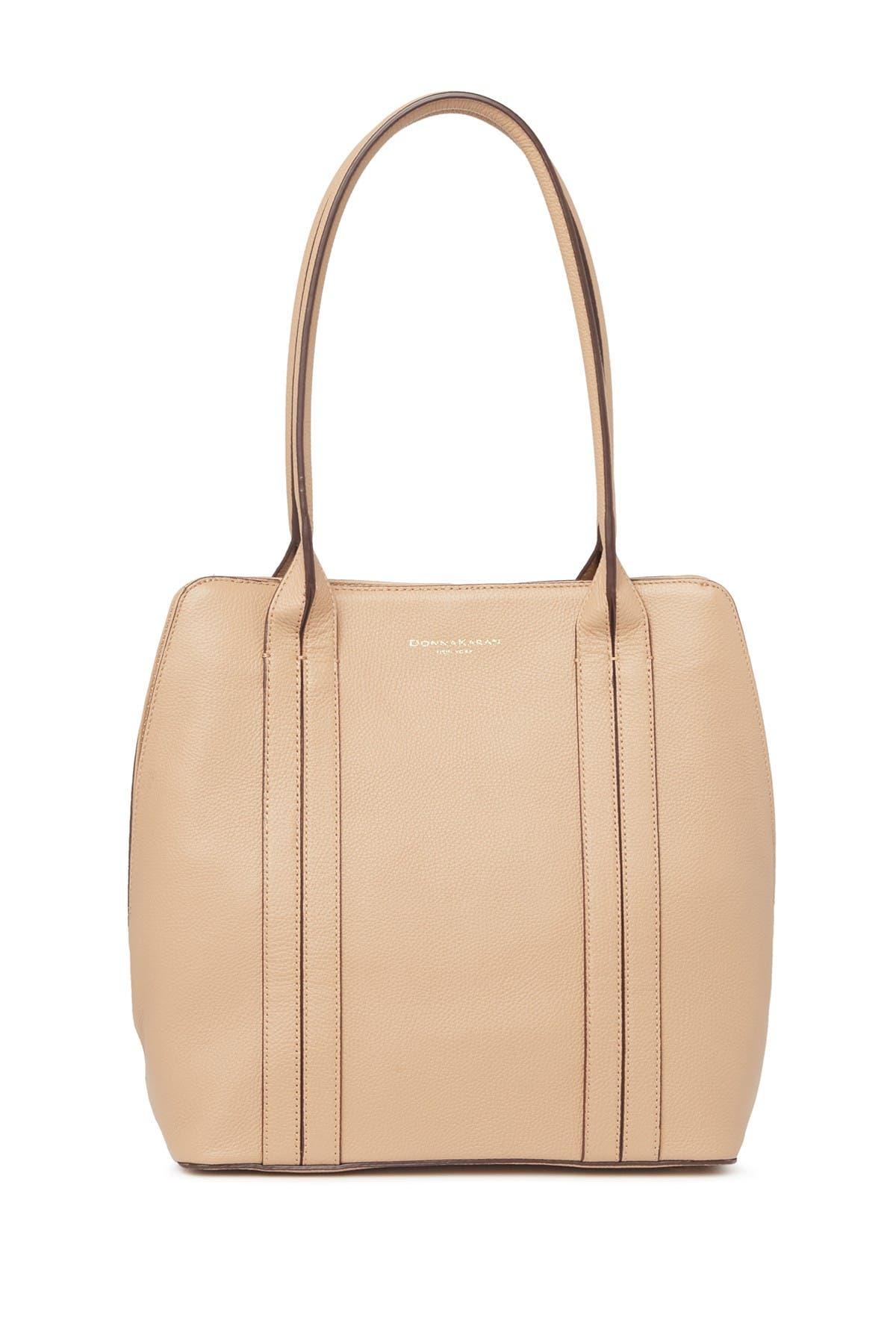 Image of Donna Karan Perry North/South Leather Shoulder Bag