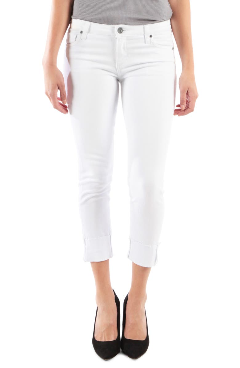 KUT FROM THE KLOTH Catherine Wide Cuff Crop Boyfriend Jeans, Main, color, 110