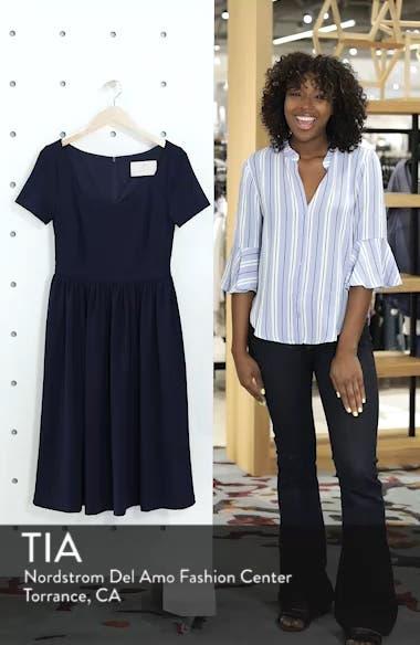 Annie Scuba Crepe Fit & Flare Dress, sales video thumbnail