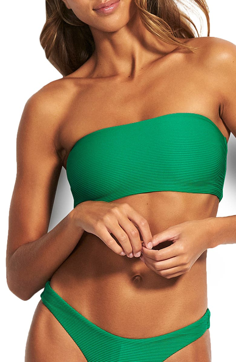 SEAFOLLY Essential Tube Bikini Top, Main, color, JUNGLE GREEN