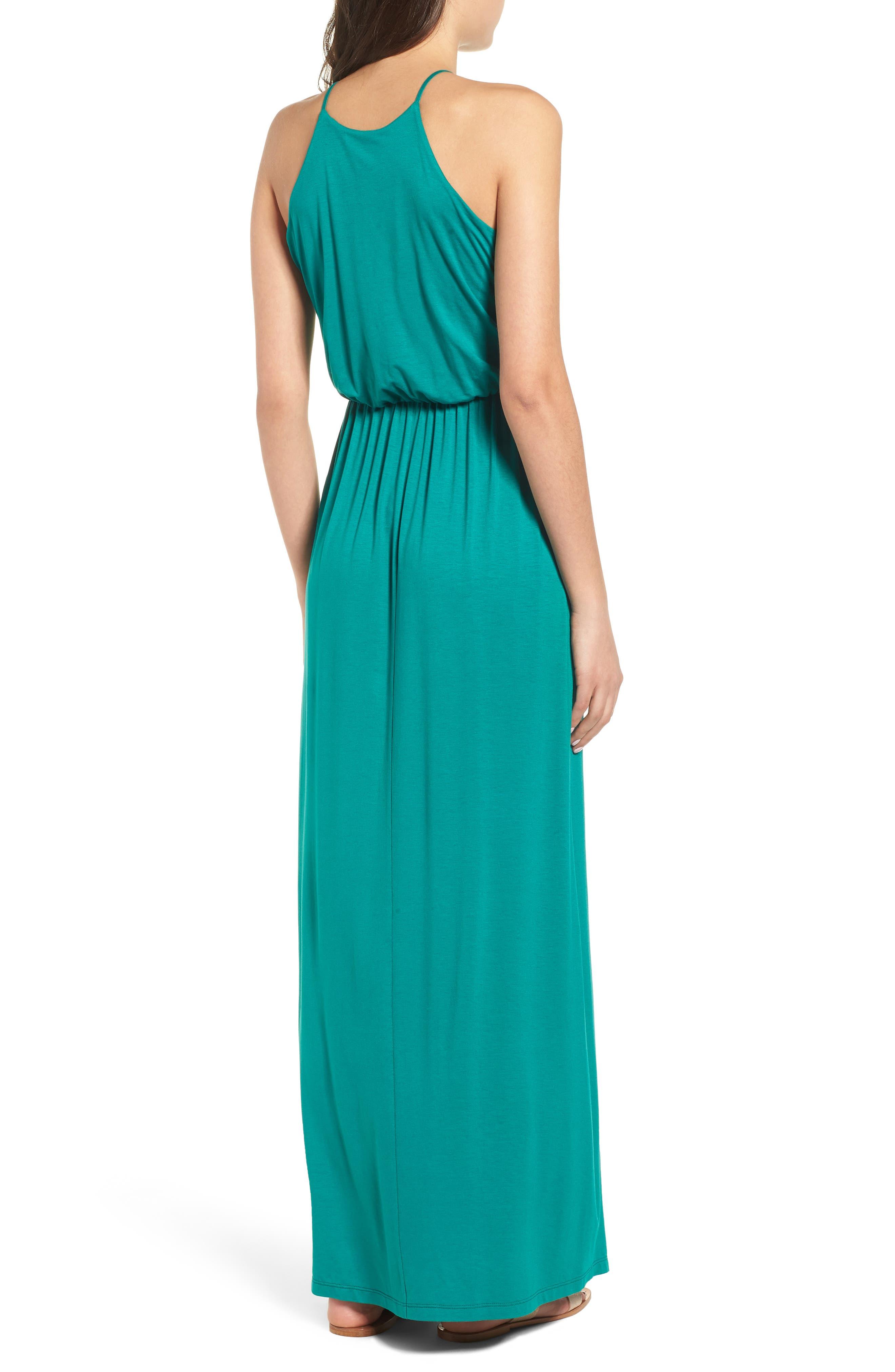 ,                             High Neck Maxi Dress,                             Alternate thumbnail 10, color,                             301