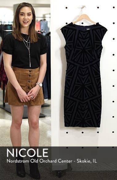 Velvet Jacquard Sheath Dress, sales video thumbnail