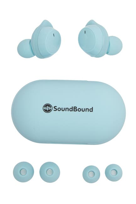 Image of LIFEWARE SoundBound True Wireless Stereo Rubberized Sport Sweat Resistant Earbuds - Blue