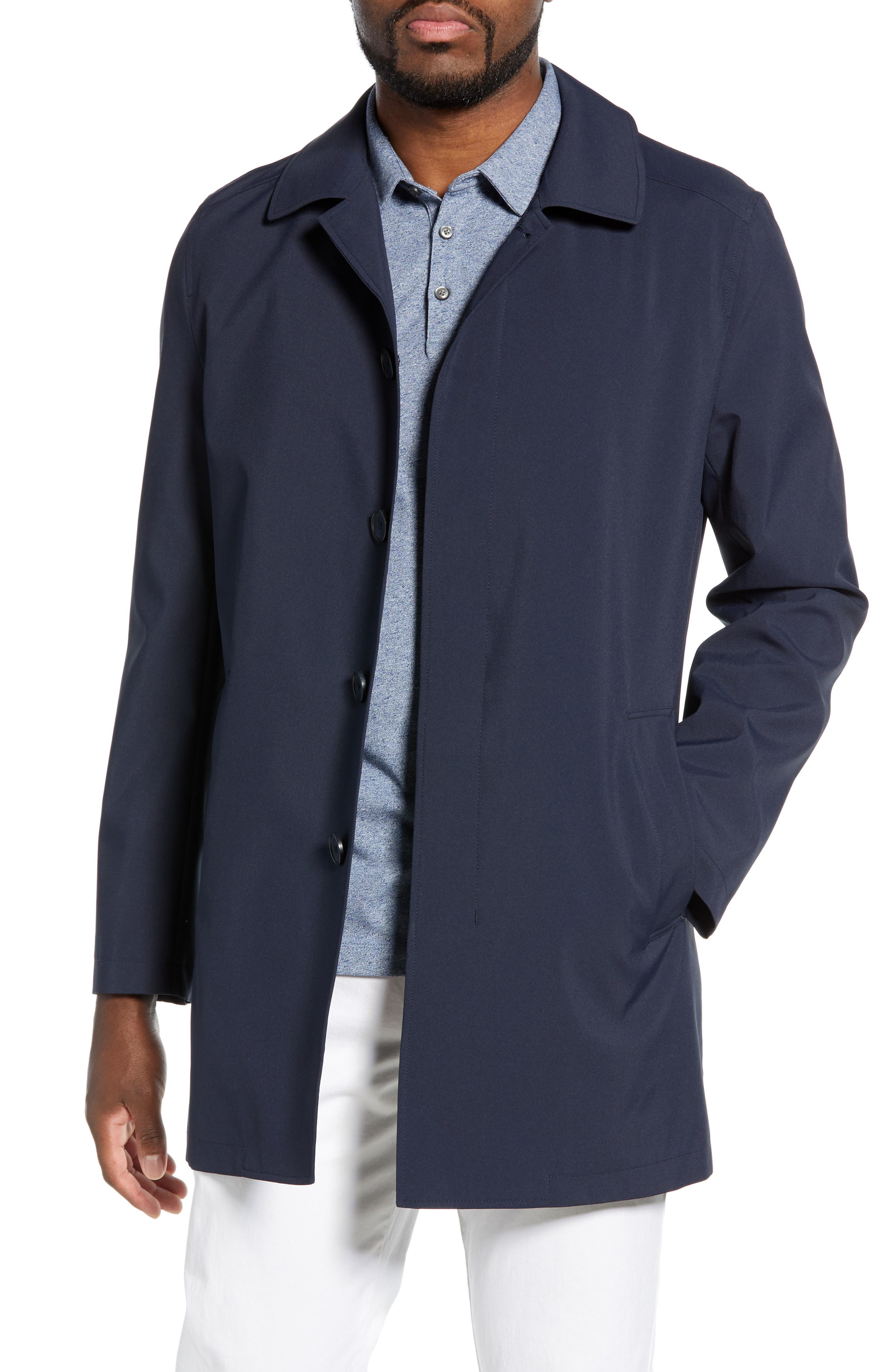 ,                             Lightweight Overcoat,                             Main thumbnail 1, color,                             BLUE OASIS