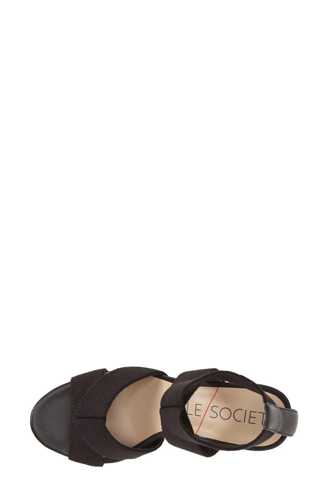 ,                             'Joesy' Block Heel Sandal,                             Alternate thumbnail 4, color,                             001
