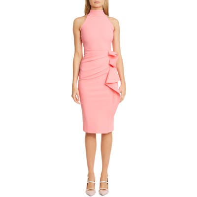 Chiara Boni La Petite Robe Gudrum High Neck Cocktail Dress, 8 US - Pink