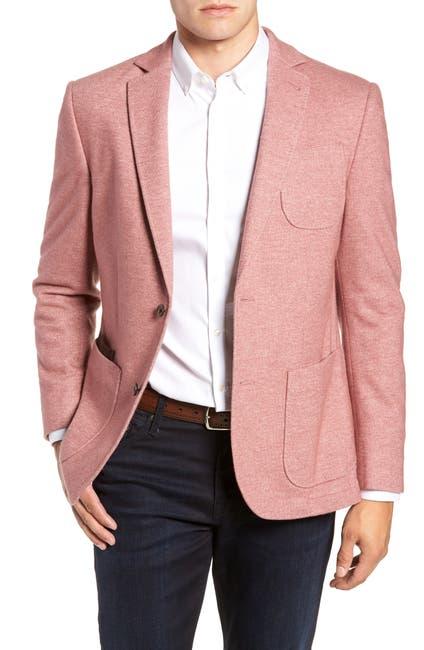 Image of FLYNT Pink Two Button Notch Lapel Regular Fit Wool Blend Soft Sport Jacket