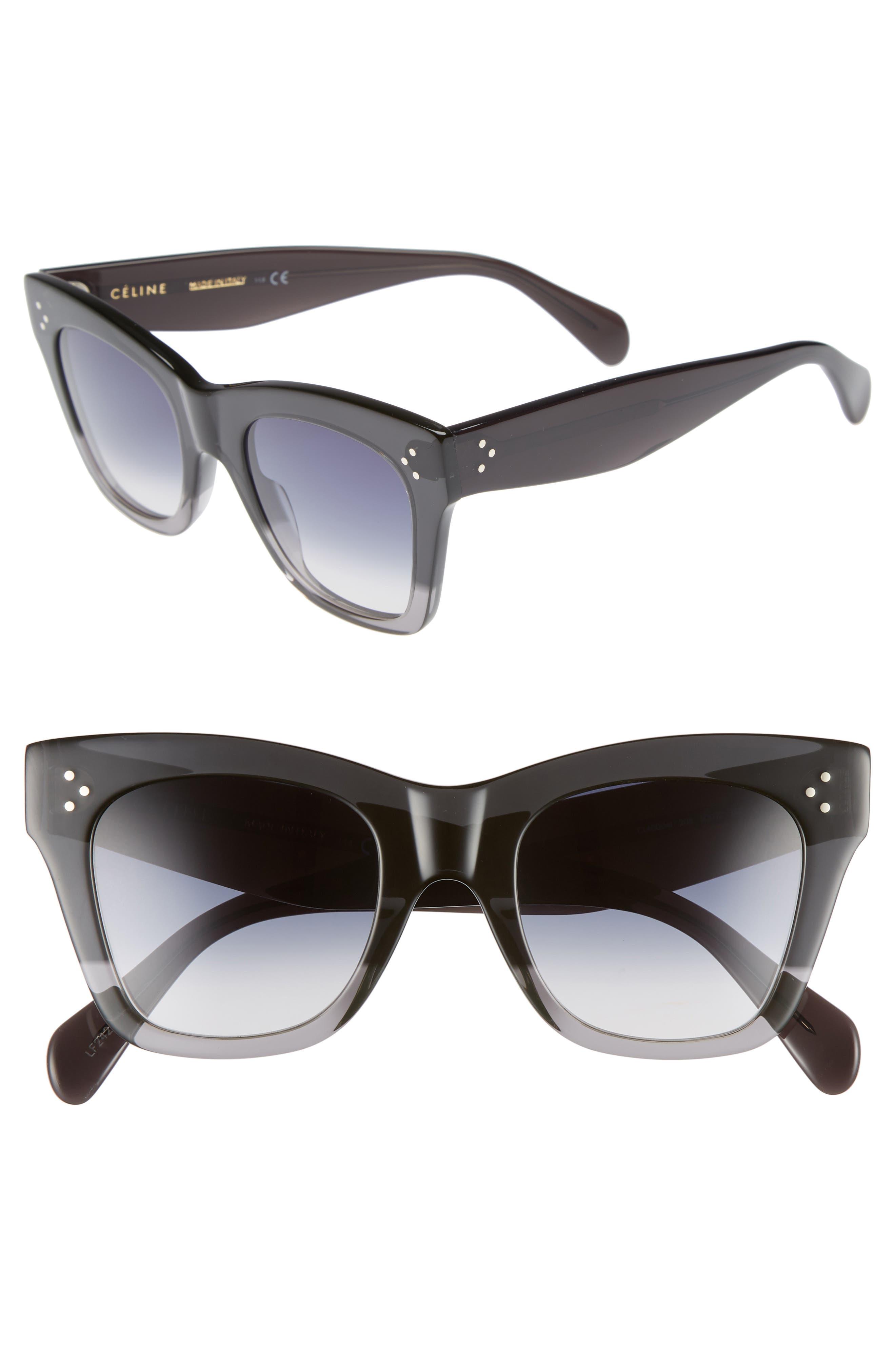 Celine 50Mm Gradient Butterfly Sunglasses - Dark Grey/ Smoke
