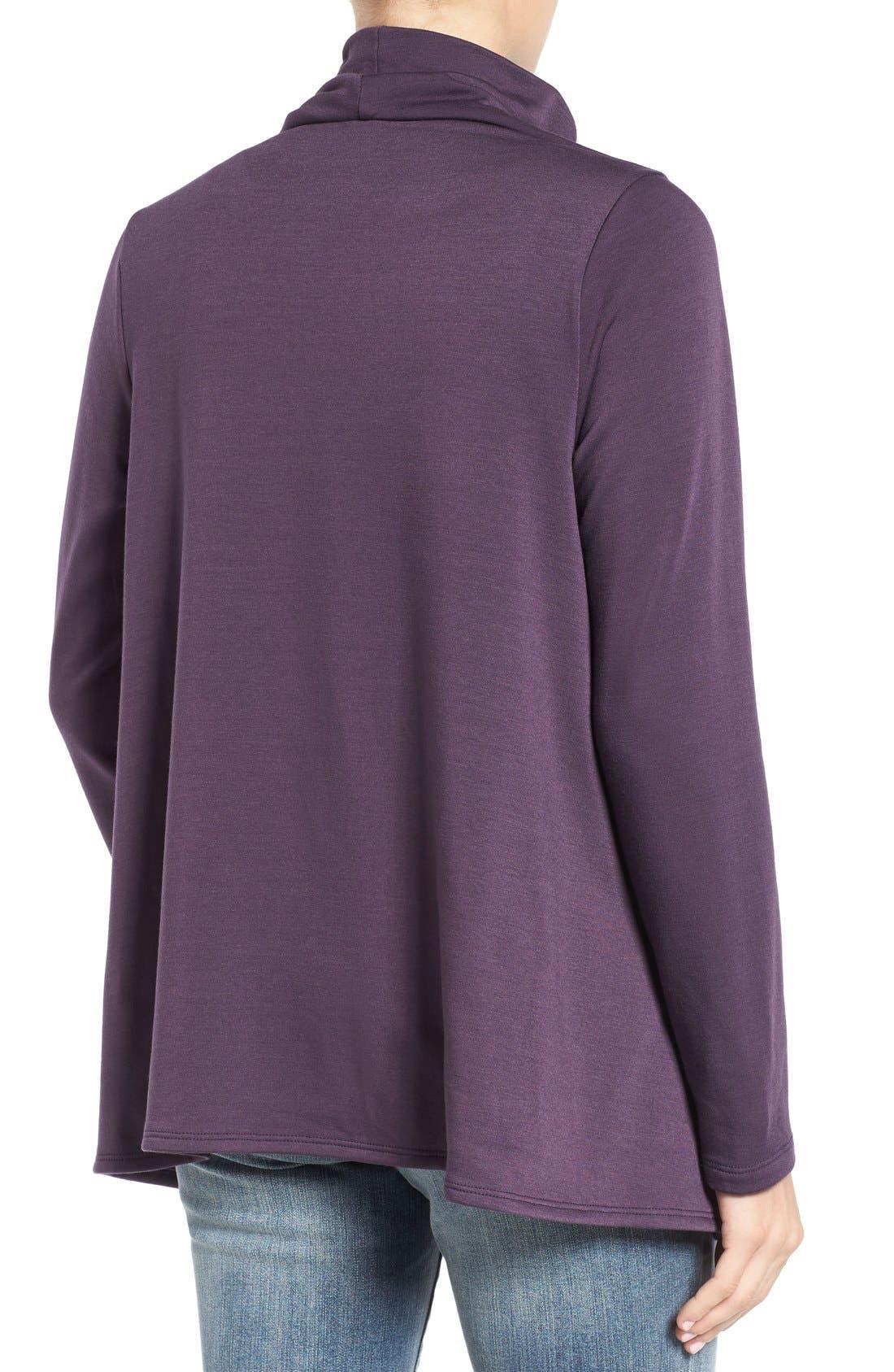 ,                             One-Button Fleece Wrap Cardigan,                             Alternate thumbnail 180, color,                             597