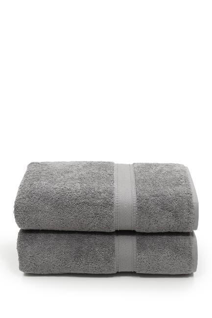 Image of LINUM HOME Sinemis Terry Bath Towels - Set of 2 - Dark Grey