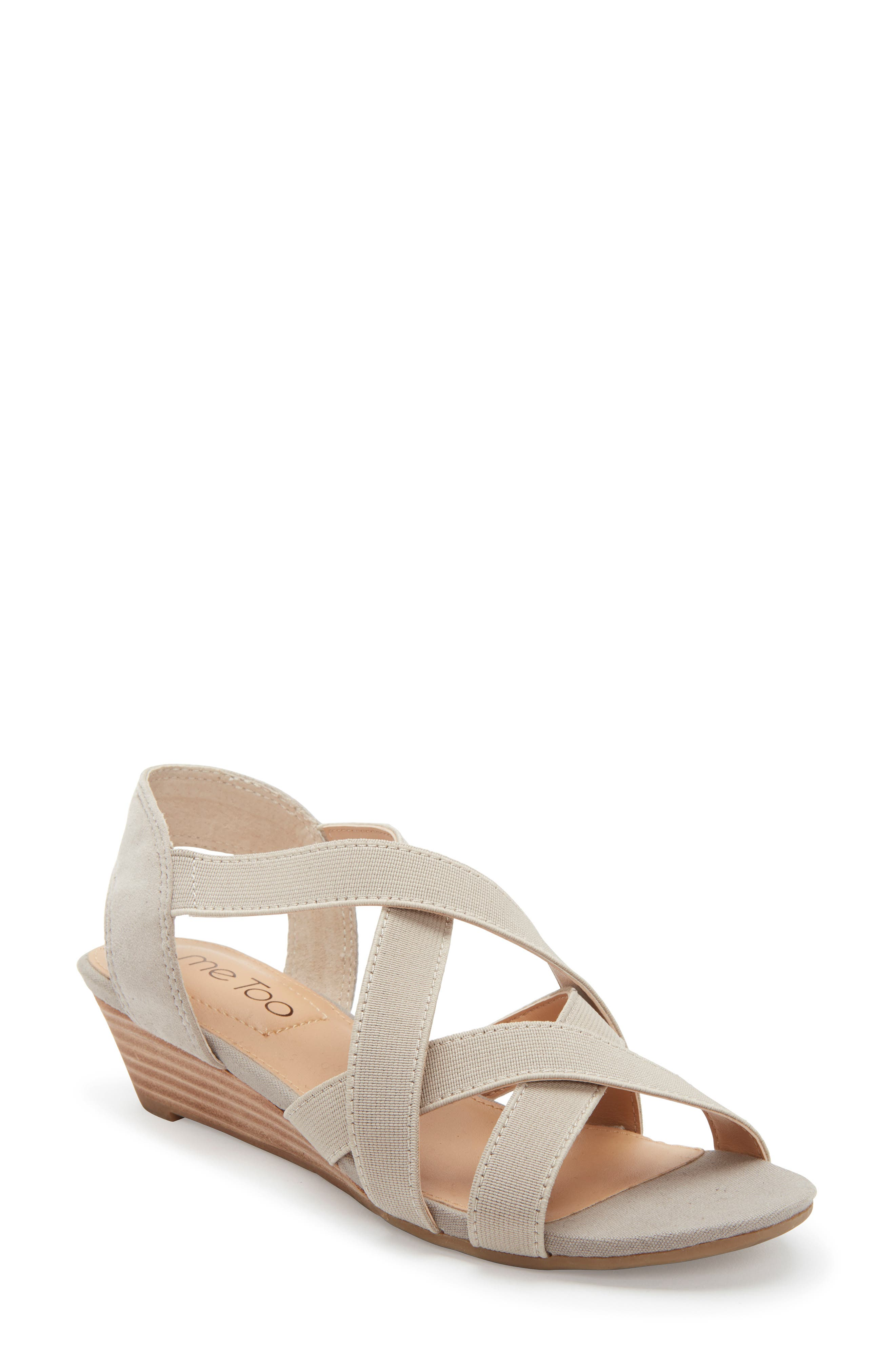 Me Too Saffron Wedge Sandal- Grey