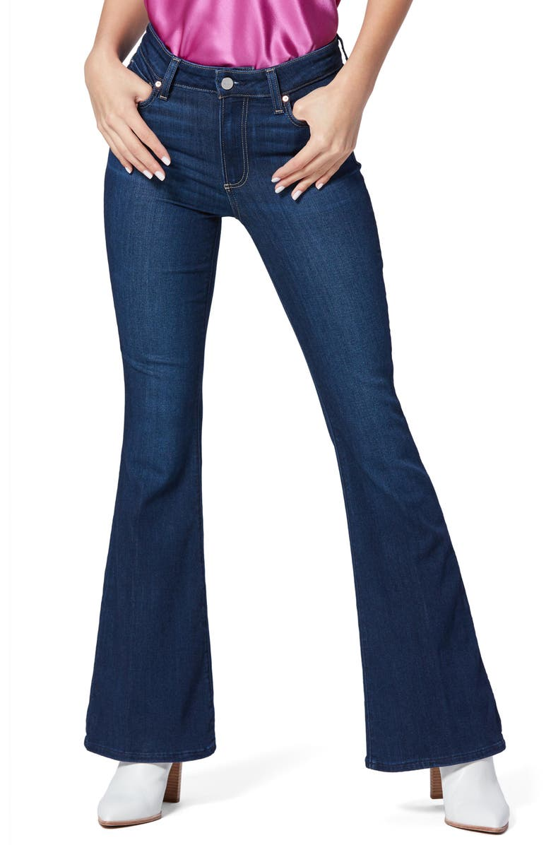 PAIGE Canyon High Waist Flare Jeans, Main, color, DION