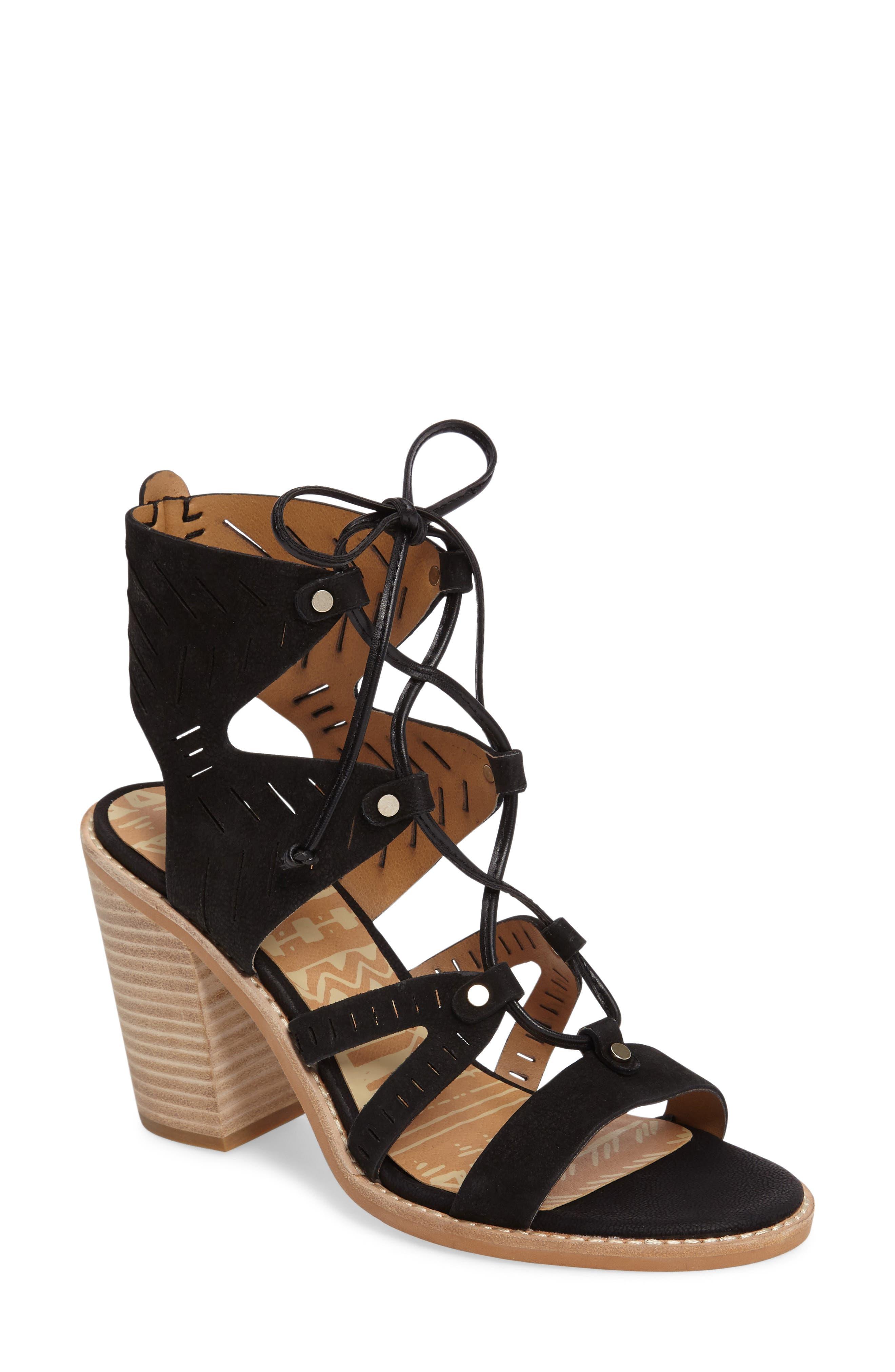 Luci Ghillie Lace Sandal, Main, color, 001