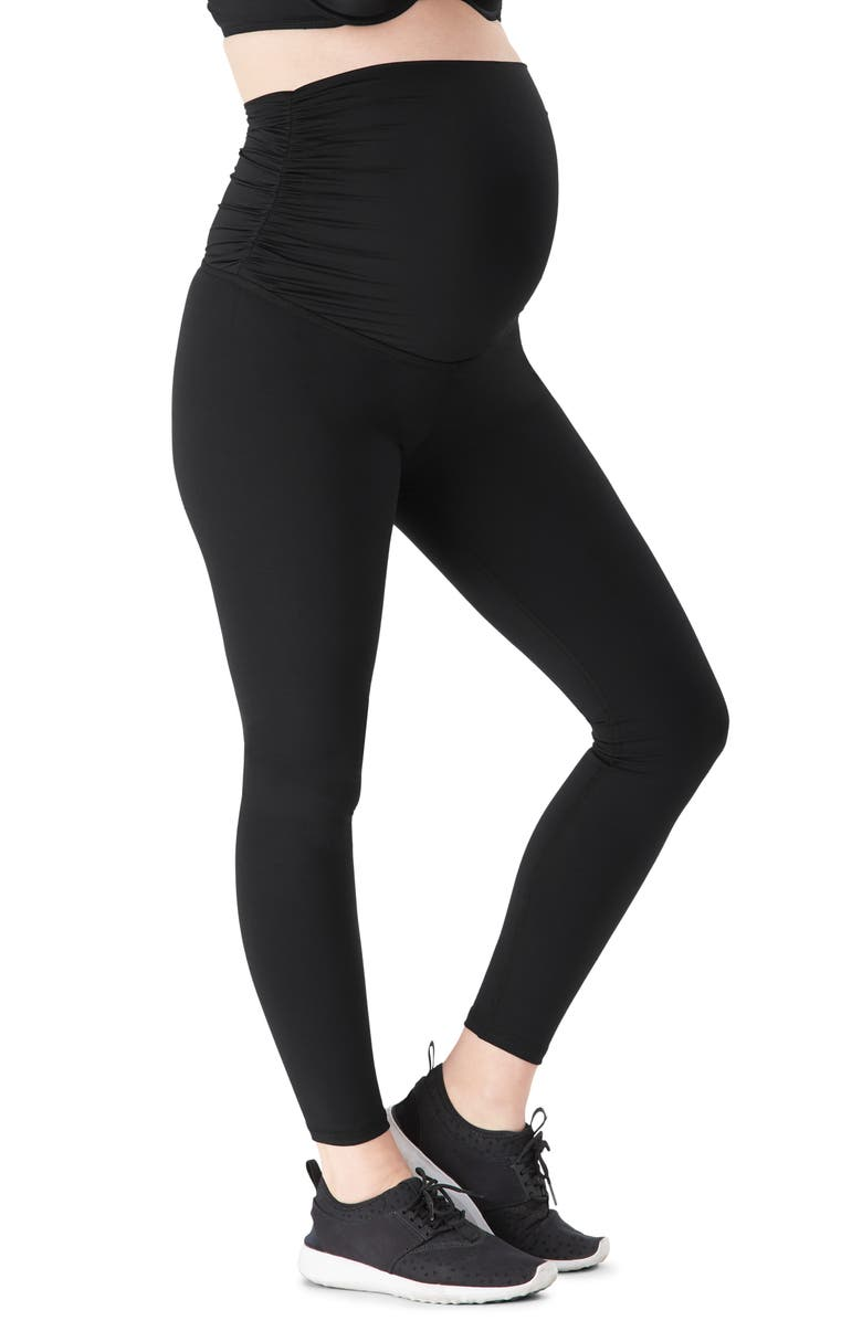 BELLY BANDIT<SUP>®</SUP> ActiveSupport<sup>®</sup> Essential Maternity Leggings, Main, color, BLACK