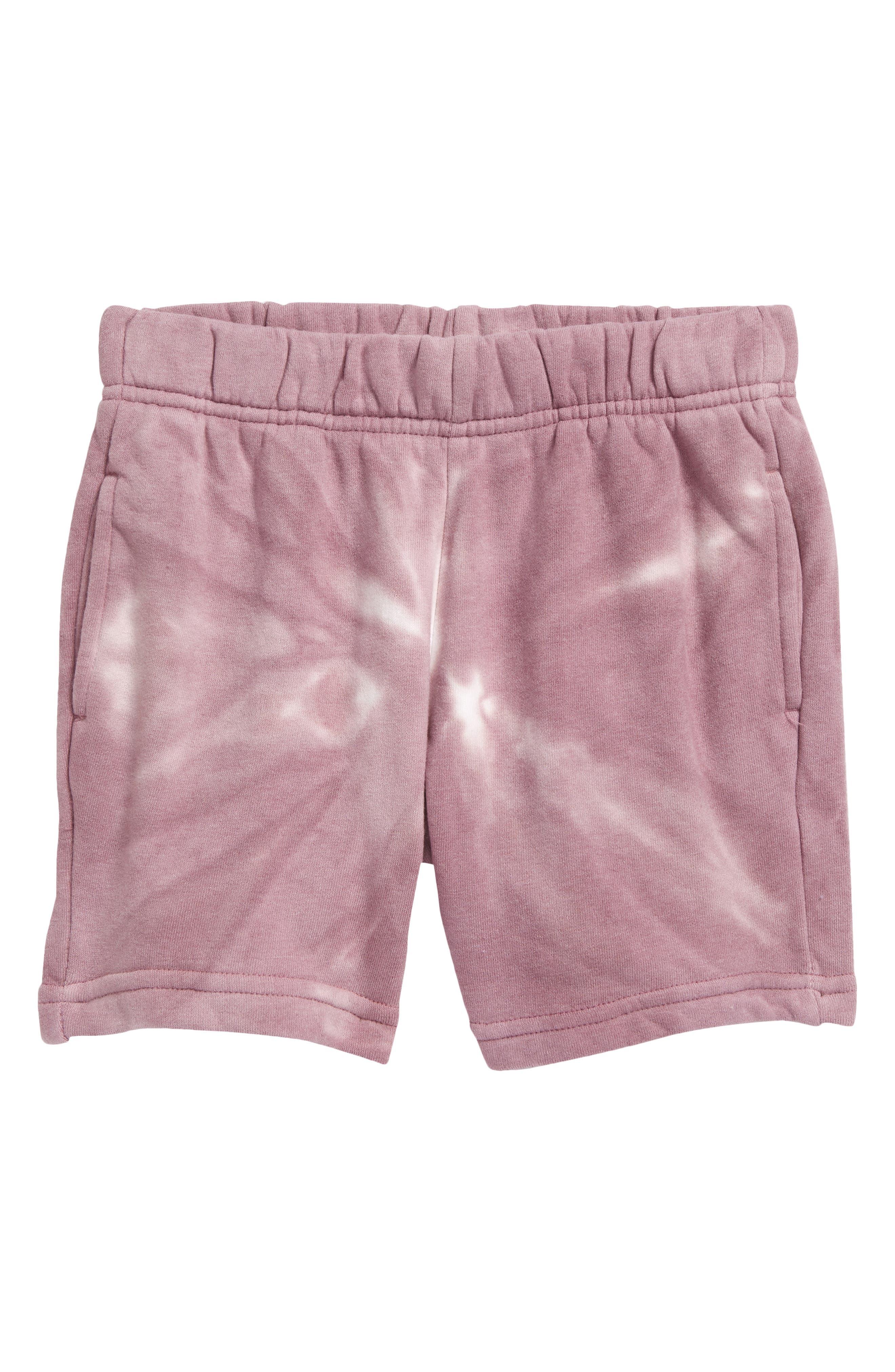 Kids' Tie Dye Recycled Cotton Blend Fleece Shorts