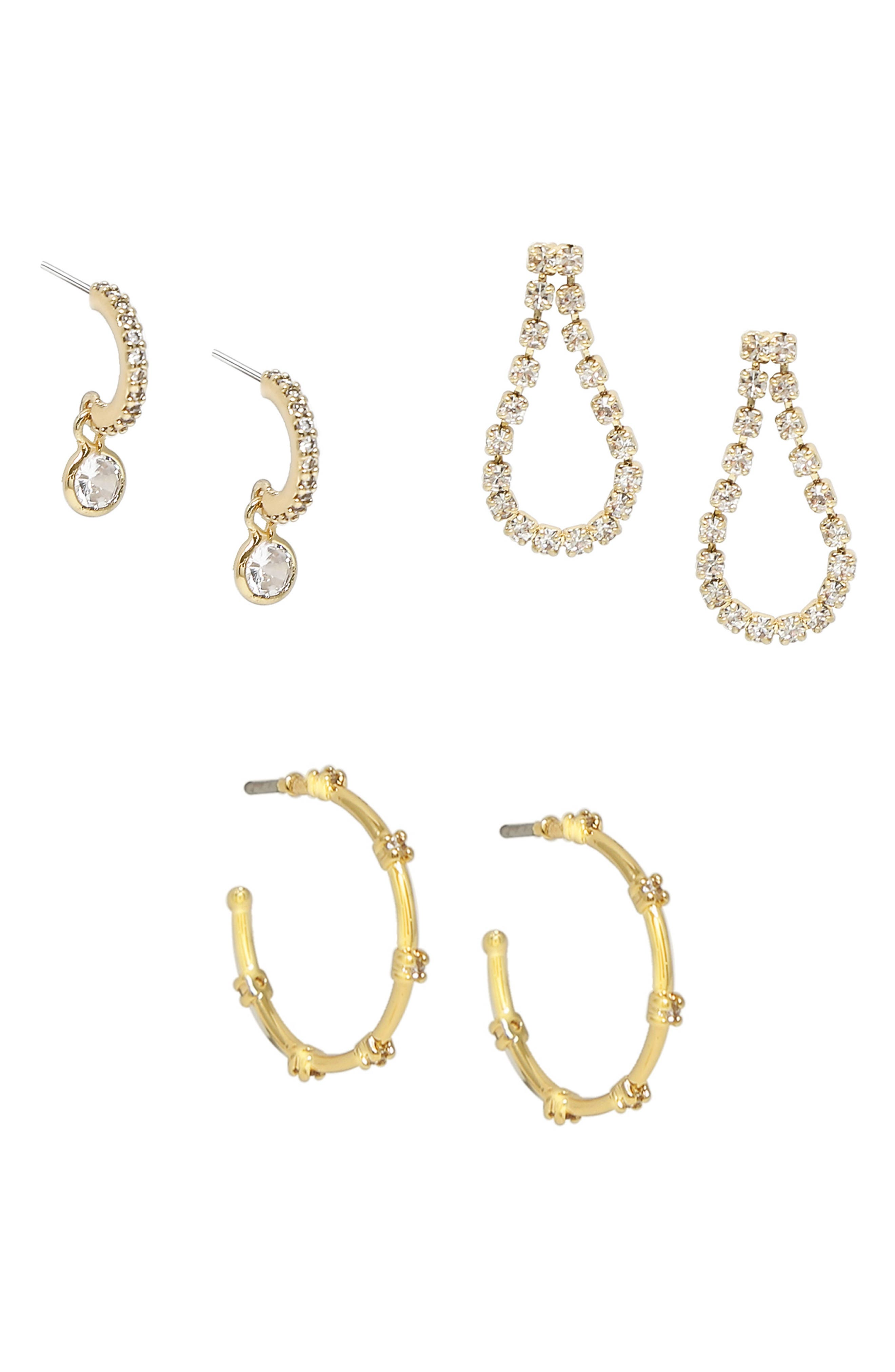 Set Of 3 Sparkle Earrings