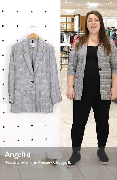 Single Button Linen Blazer, sales video thumbnail