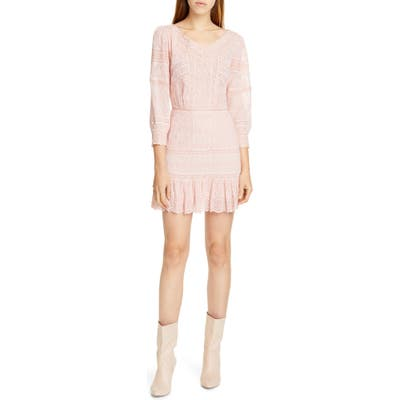 Loveshackfancy Cheri Eyelet Lace Dress, Pink