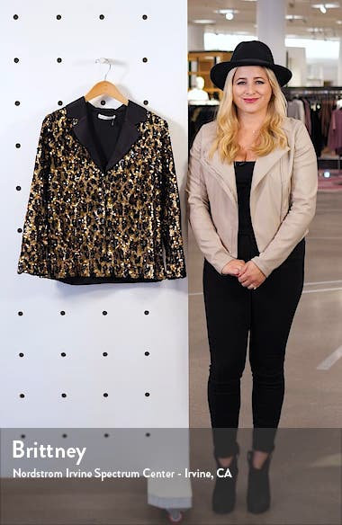 Keir Pajama Style Sequin Top, sales video thumbnail