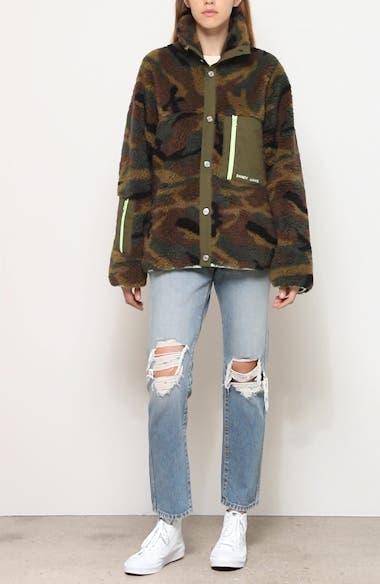 Rory Camo Print Fleece Jacket, video thumbnail