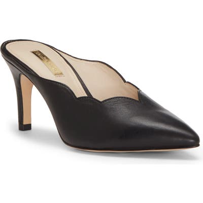 Louise Et Cie Kirina Scalloped Mule- Black