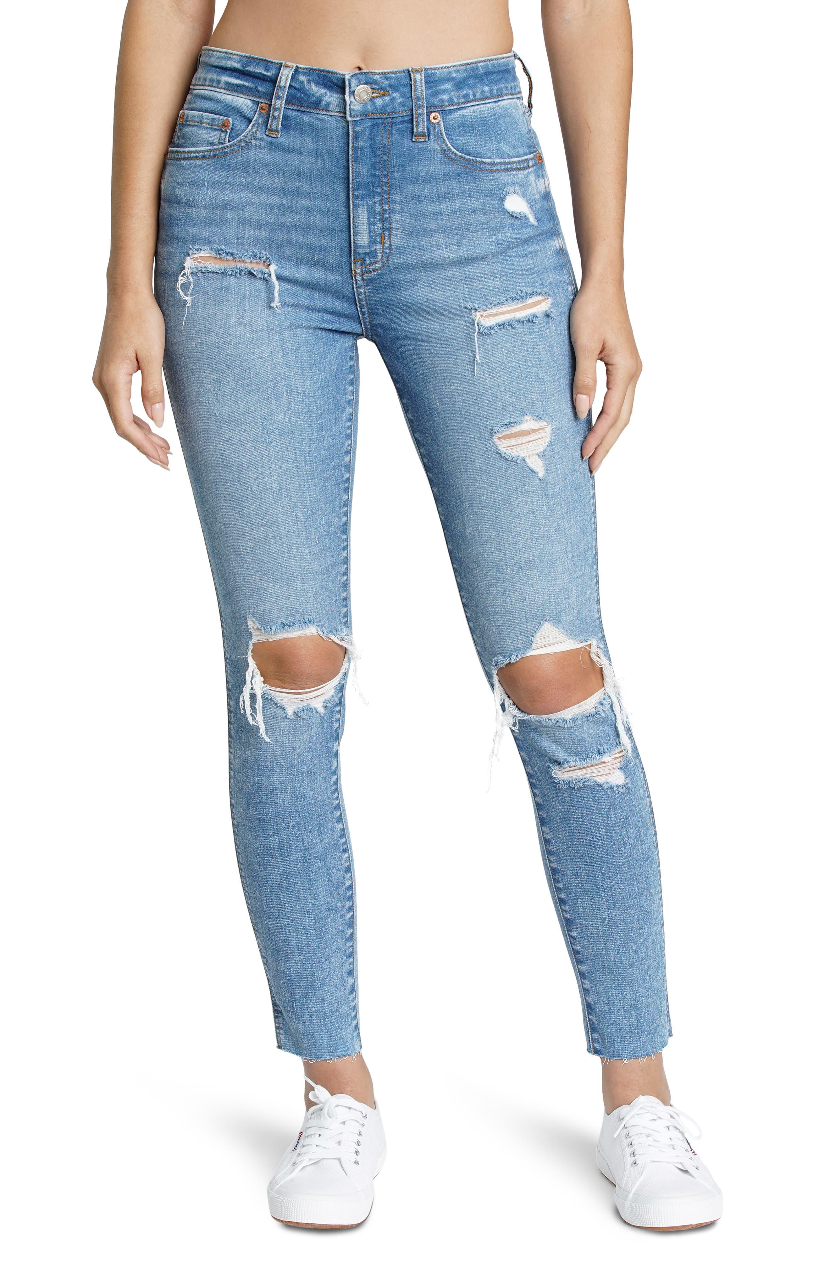 Money Maker Vintage Ripped High Waist Jeans