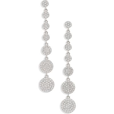 Nordstrom Graduated Pave Disc Linear Drop Earrings