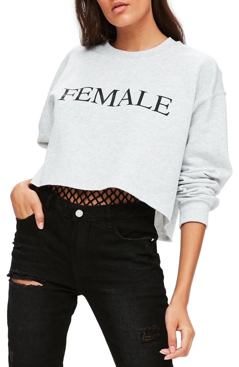 MISSGUIDED Female Sweatshirt, Main, color, 060