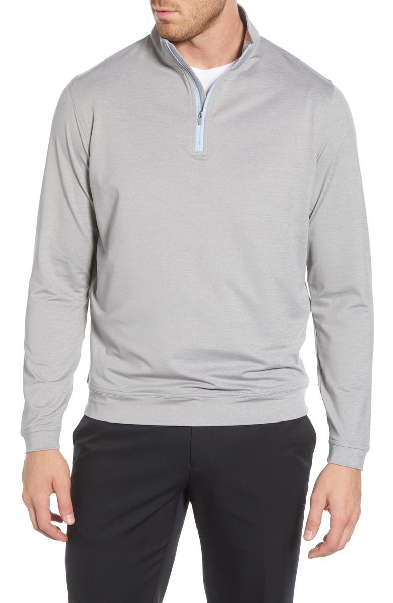 PETER MILLAR Perth Loop Terry Performance Pullover, Main, color, GALE GREY