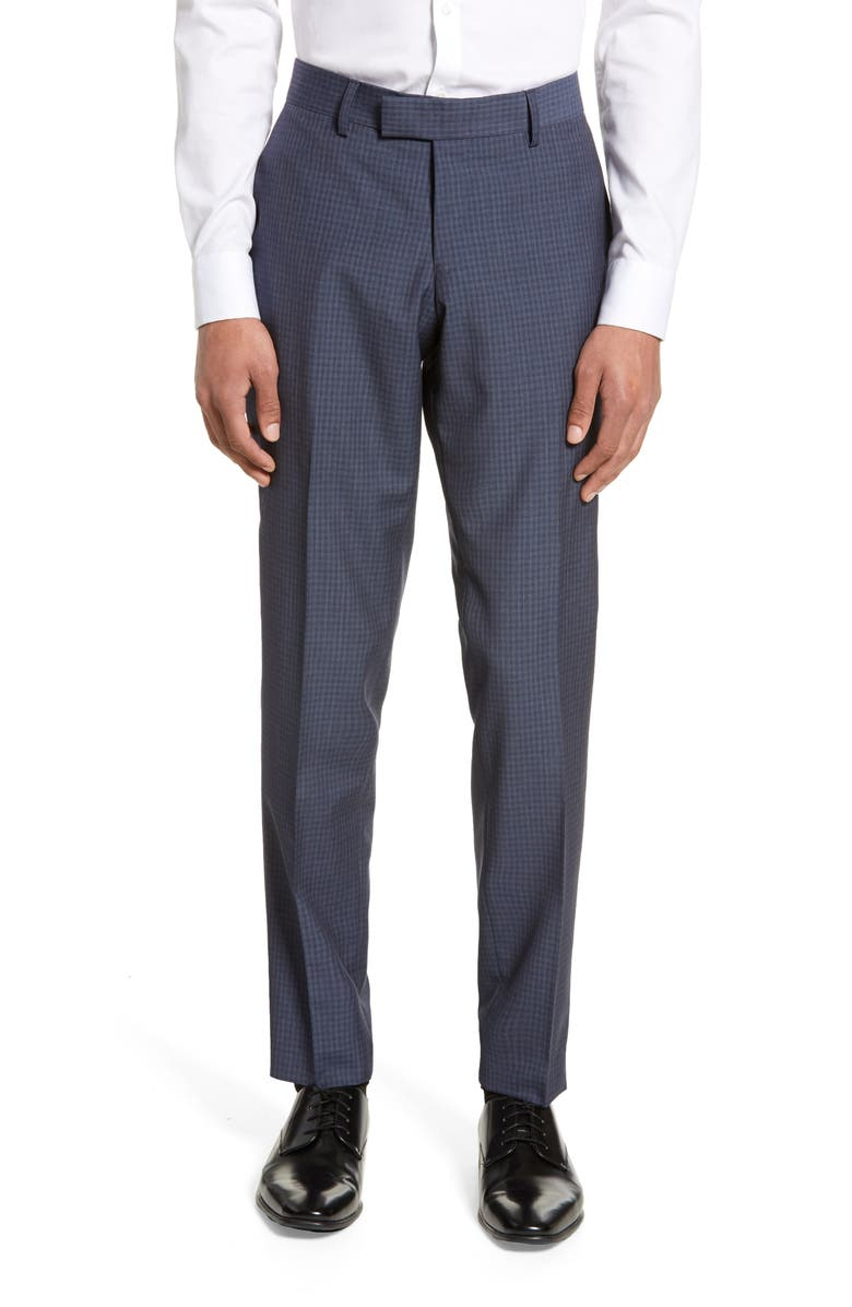 TIGER OF SWEDEN Tordon Check Wool Trousers, Main, color, 430