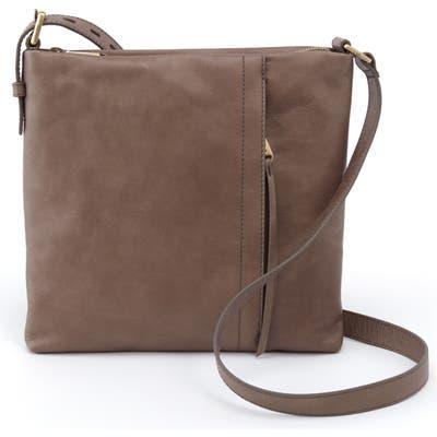 Hobo Leather Shoulder Bag - Grey