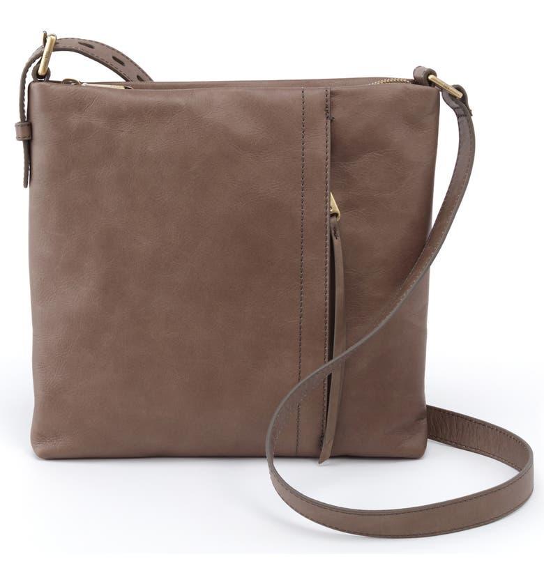 HOBO Leather Shoulder Bag, Main, color, SHADOW