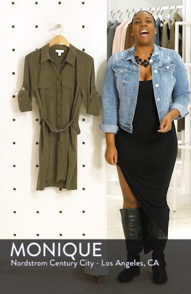 Long Sleeve Utility Shirtdress, sales video thumbnail