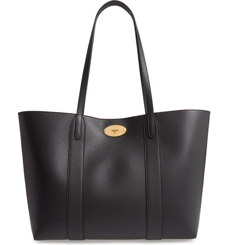 MULBERRY Bayswater Leather Tote, Main, color, 001