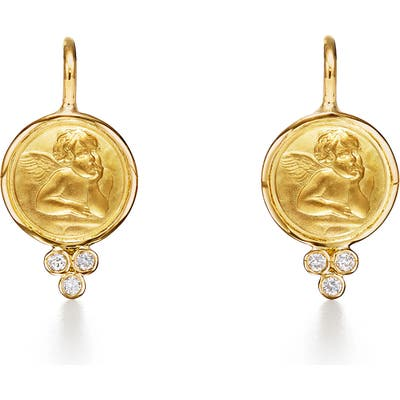 Temple St. Clair Angel 18K Gold Drop Earrings