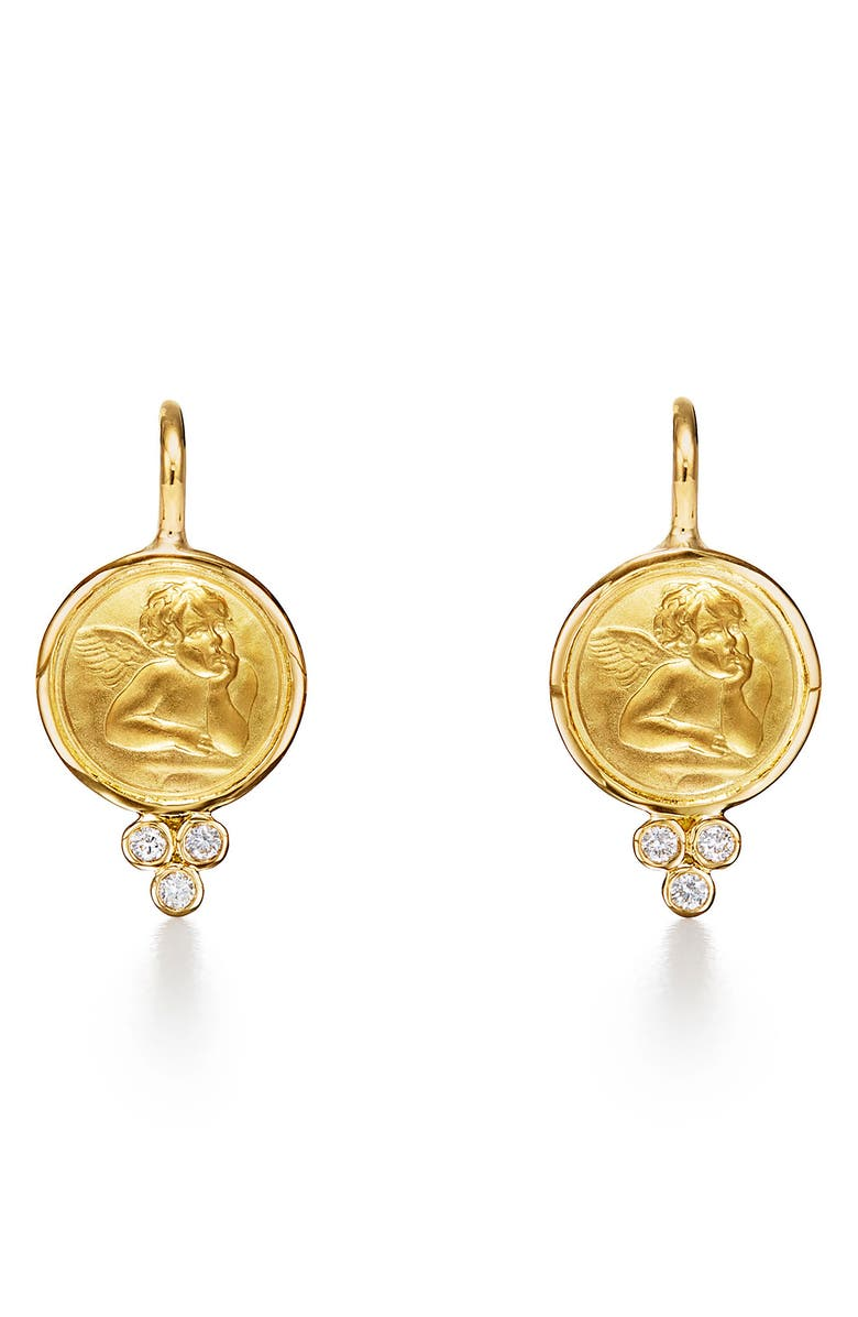 TEMPLE ST. CLAIR Angel 18K Gold Drop Earrings, Main, color, 710