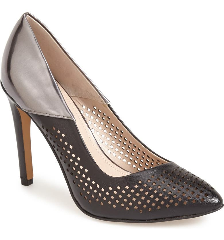 FRENCH CONNECTION 'Maya 2' Perforated Two Tone Leather Pump, Main, color, 014