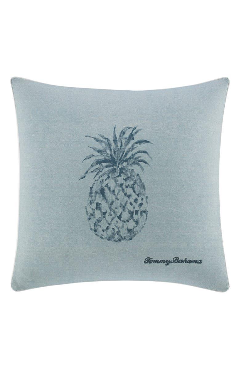 TOMMY BAHAMA Raw Coast Pineapple Pillow, Main, color, BLUE