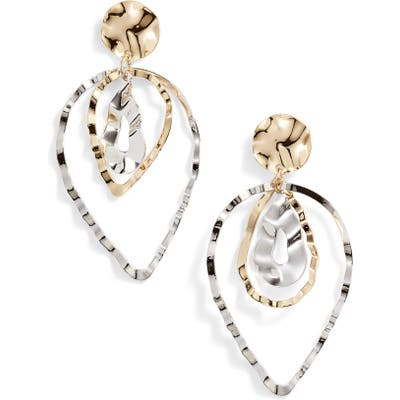 Ten79La Triple Layer Teardrop Earrings