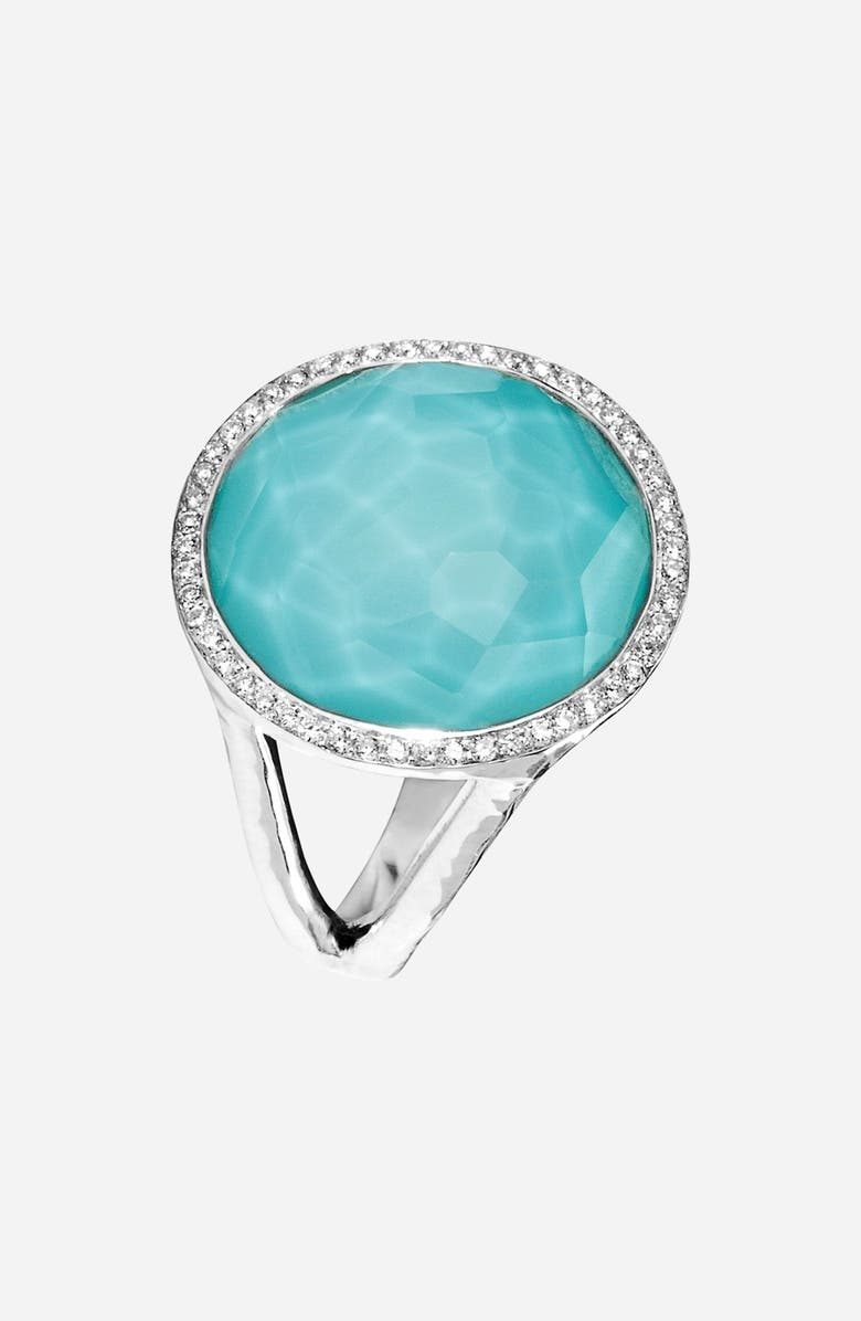 IPPOLITA 'Stella - Lollipop' Cocktail Ring, Main, color, SILVER/ TURQUOISE
